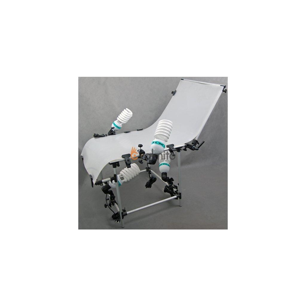 Fotografický stôl 60x130cm + súprava žiaroviek 4x125W