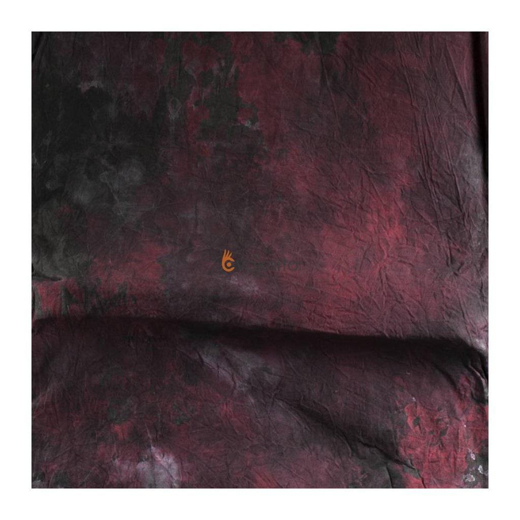 Textílne fotografické pozadie 3x6m, červeno-šedá Bresser
