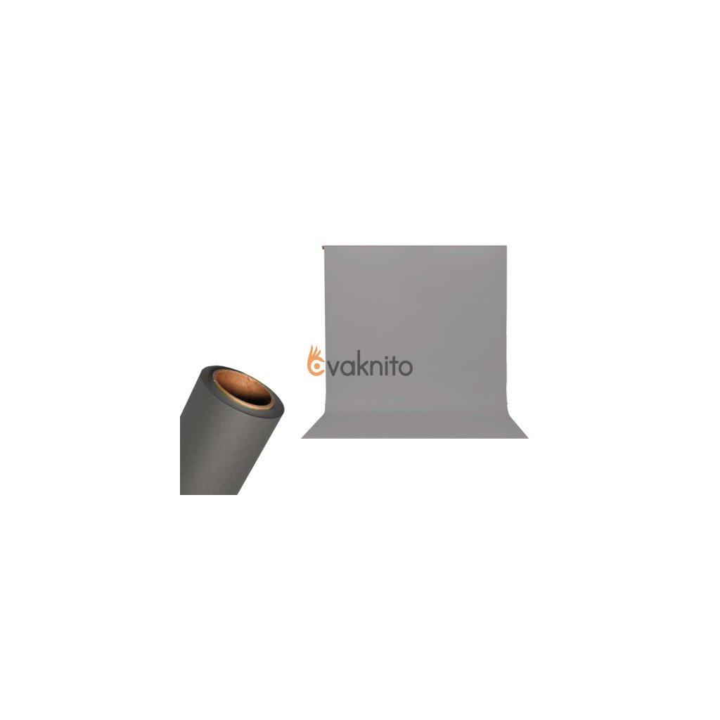 Papierové foto pozadie 1,36 x 5,5m búrková šedá