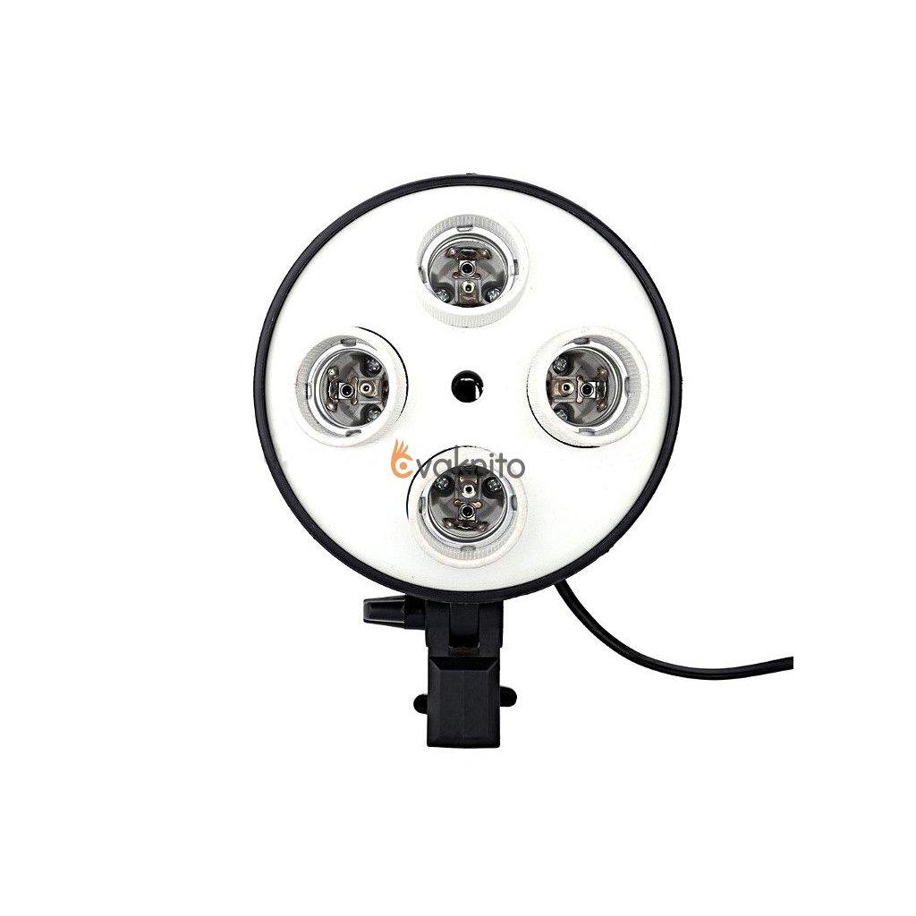 Okrúhly držiak pre štyri žiarovky E27 pre softbox