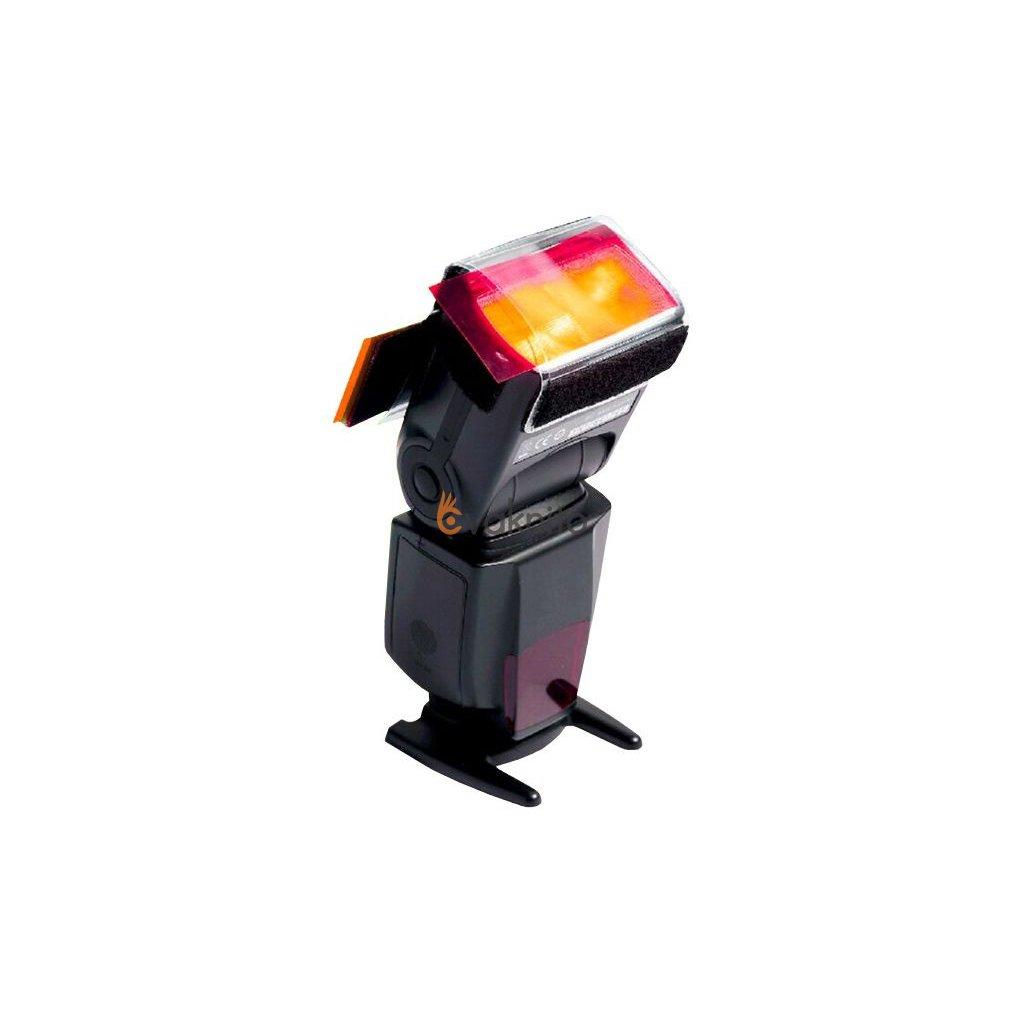 Farebné gélové filtre (15 filtrov) pre externý blesk