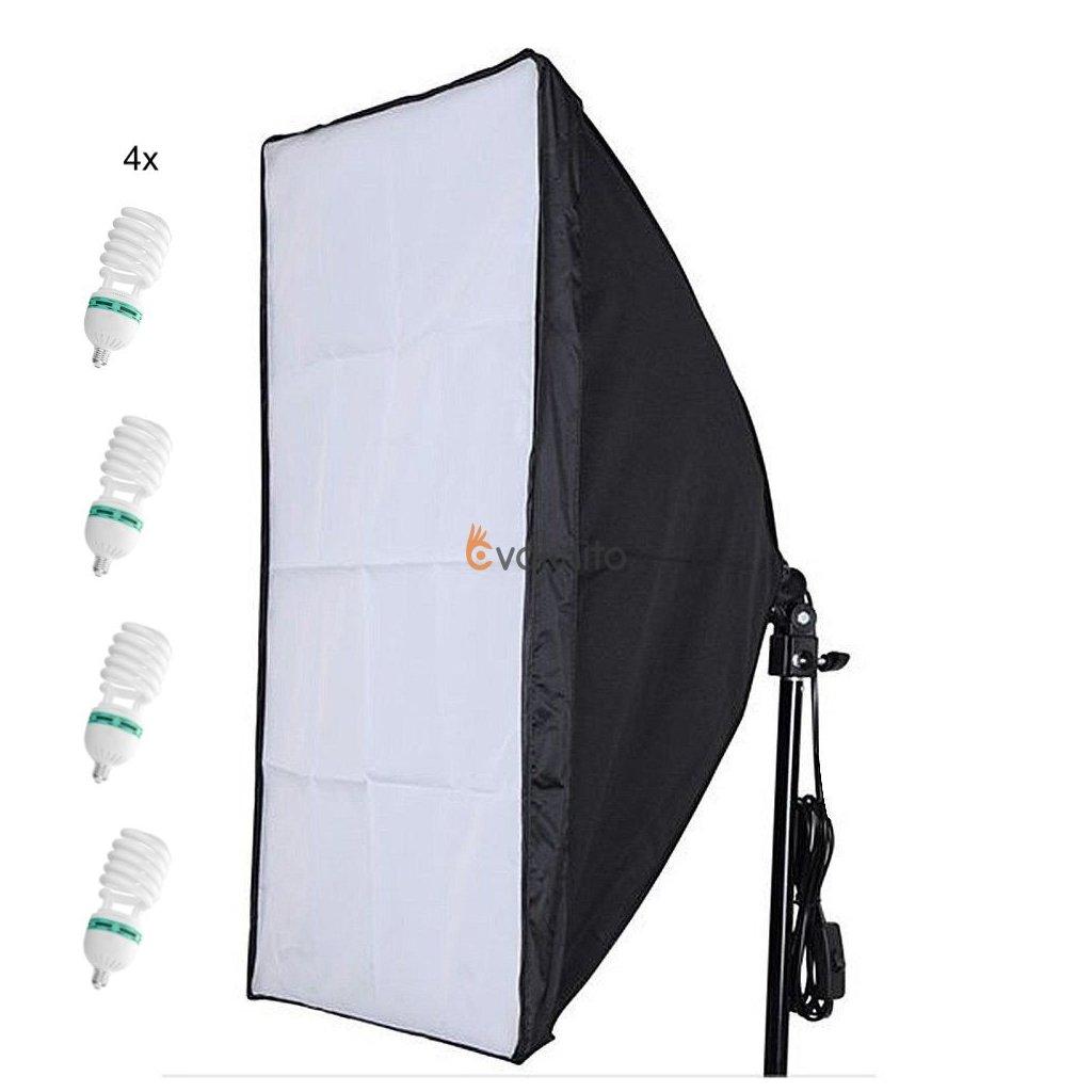 Softbox set 2700W 50x70cm + 4x žiarovky