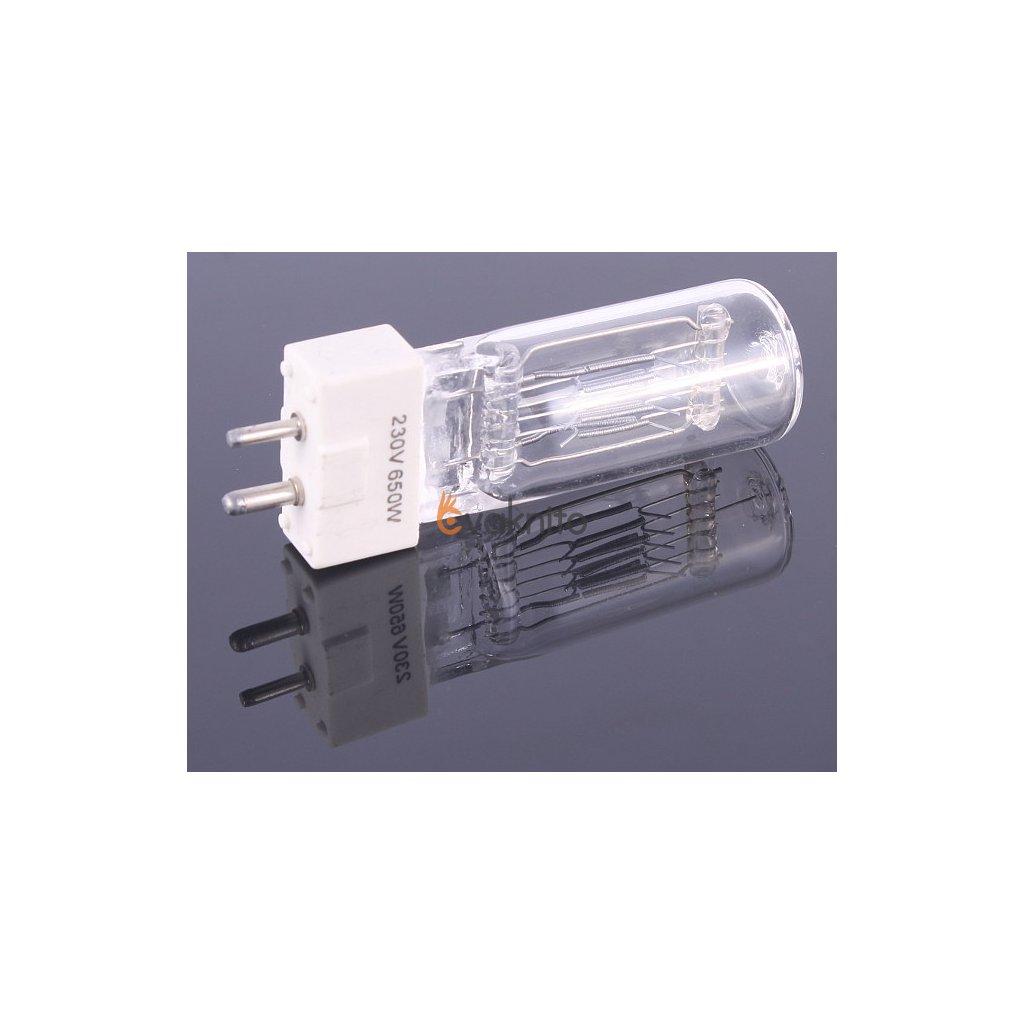 Halogénová žiarovka 650W so závitom GY 9,5 pre svetlá s Fresnelovým objektívom
