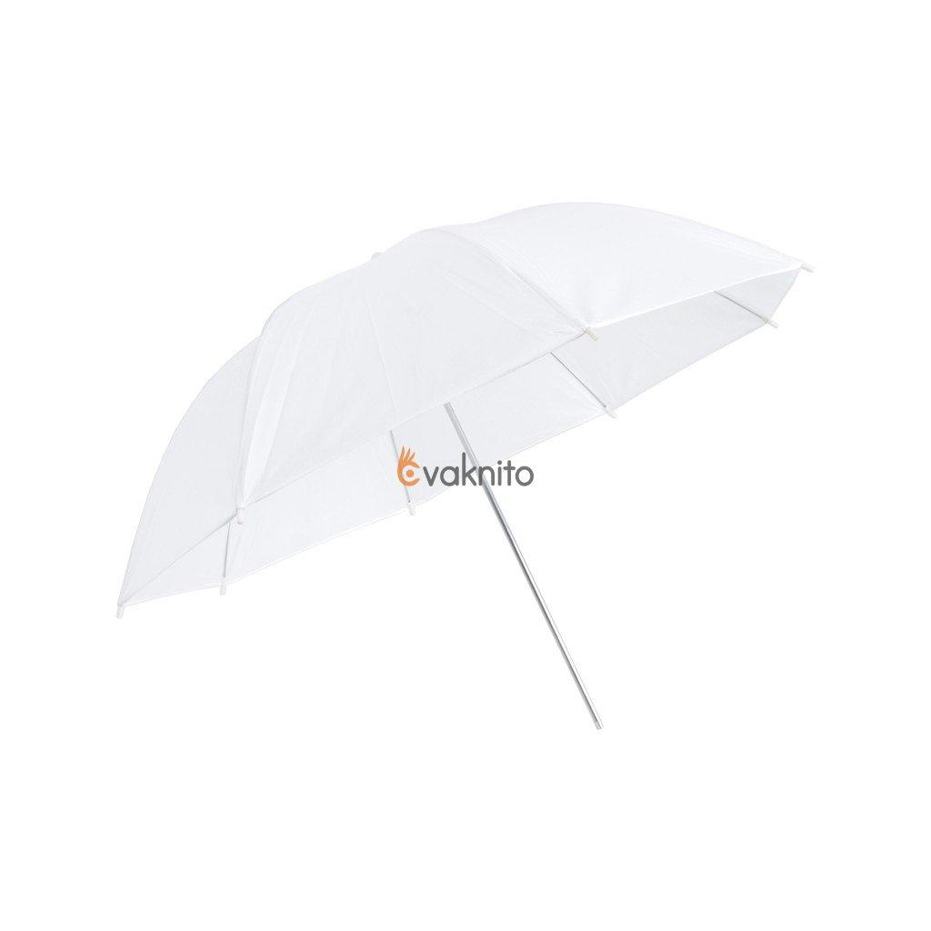 Transparentný štúdiový dáždnik biely 110cm