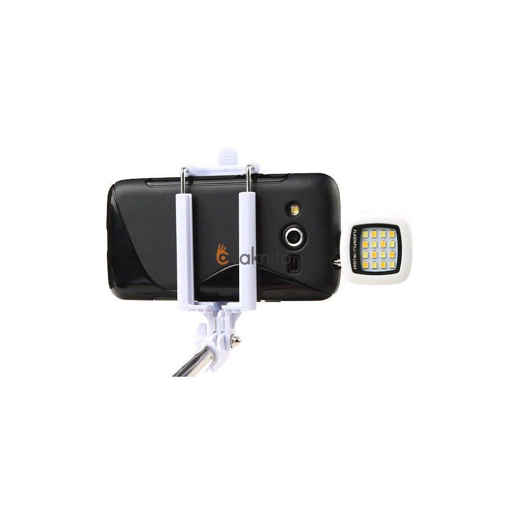 Externé LED svetlo na telefón pre selfie fotografie (16 LED)