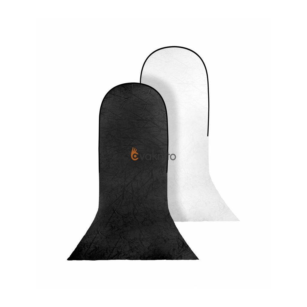 Prenosné fotopozadie 150x200 + 200cm, čierna/biela, Bresser