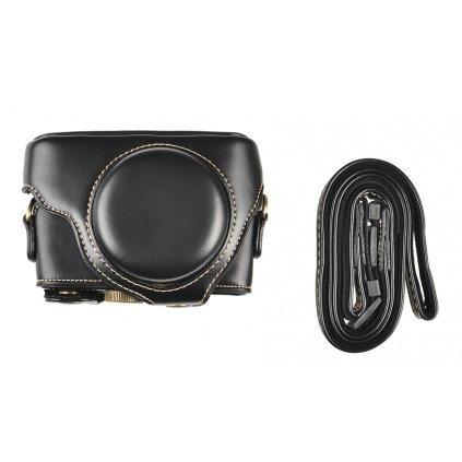 Čierne puzdro pre Sony RX100 s popruhom na krk