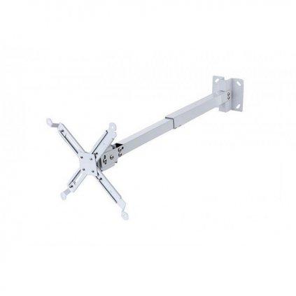 Stropný hliníkový držiak projektora 14 - 65 cm (biely)