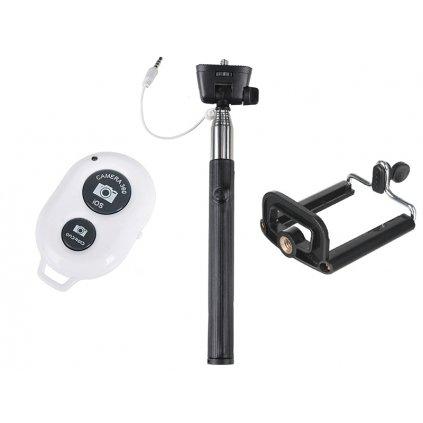 Selfie set 3v1: monopod + statívový držiak na telefón + diaľkové ovládanie s bluetooth