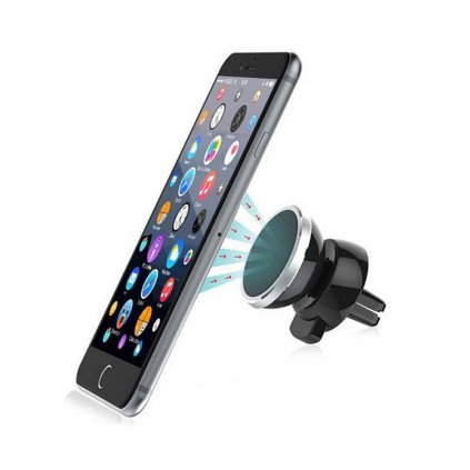 Magnetický držiak telefónu do auta do vetracej mriežky - strieborný