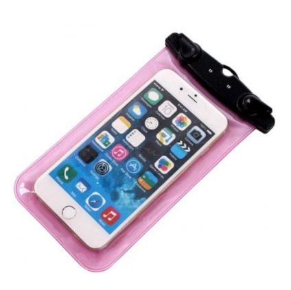 Vodotesné puzdro pre smartfón a iPhone - ružový