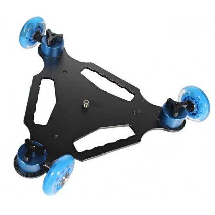 Dolly - 3-kolesový vozík pre videokamery a digitálne zrkadlovky