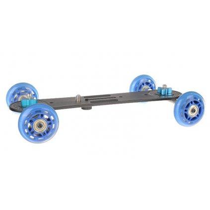 Dolly - dlhý 4-kolesový vozík pre videokamery a digitálne zrkadlovky