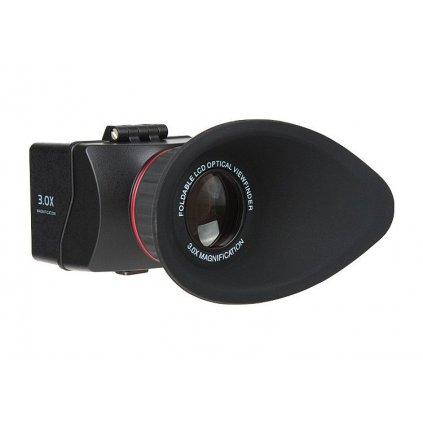 """Hľadáčik - zväčšenie 3x pre LCD 3"""" / 3,2"""" - model 22 max (1)"""