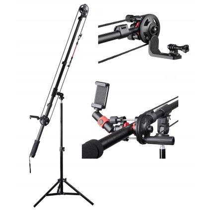 Montážne prvky pre žeriav / fotoaparáty / telefóny / GoPro kamery