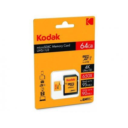 Pamäťová karta Kodak - micro SDXC 64 GB class 10 UHS-1 U3