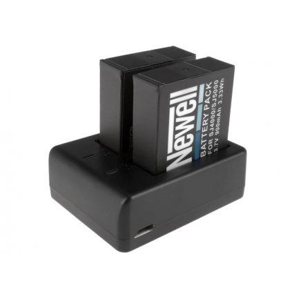 Newell SDC-USB dvojkanálová nabíjačka a 2 batérie SJ4000 pre športové kamery