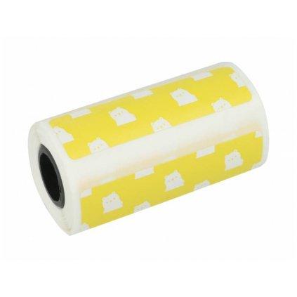 Tepelný papier Peripage nalepovací so vzorom - žltý