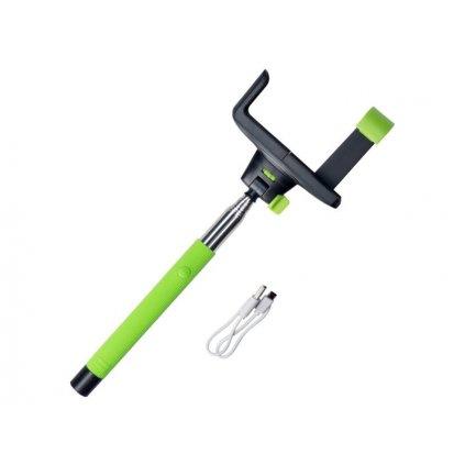 Selfie tyč Redleaf s Bluetoothom - zelená