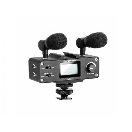 Audio adaptér Saramonic CaMixer s predzosilňovačom a mikrofónmi