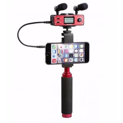 Dvojkanálový audio adaptér Saramonic SmartMixer s mikrofónmi