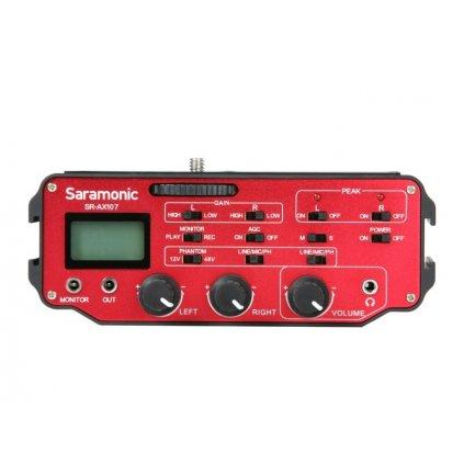 Zvukový adaptér Saramonic SR-AX107 s predzosilňovačom - dvojkanálový