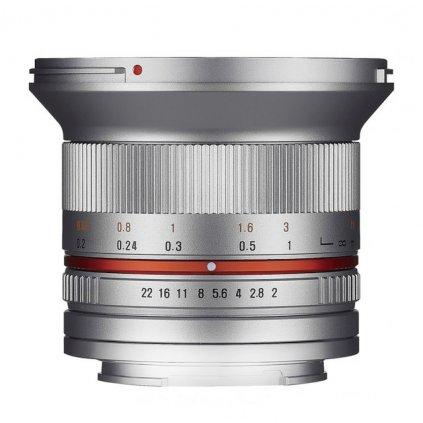 Samyang 12 mm f / 2.0 lens - Micro 4/3, silver
