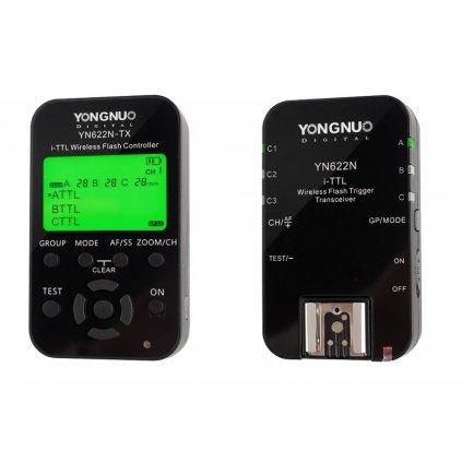 Sada Yongnuo YN622N-KIT pre Nikon - riadiaca jednotka + bezdrôtový rádiový odpaľovač