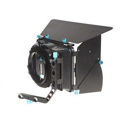Matte box s klapkami k plošine statívu, 15 mm trubice, naklápací - model B