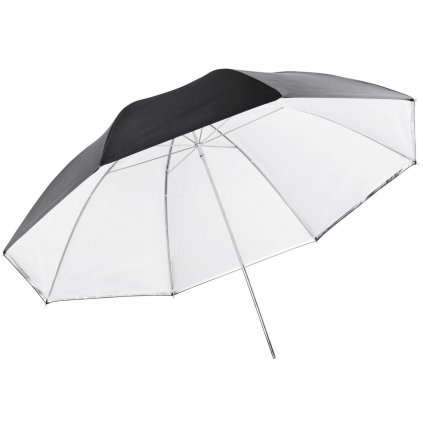Reflexný dáždnik biela / čierna 101cm BRESSER SM-11