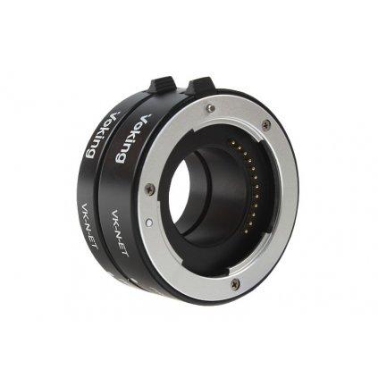 Medzikrúžky makro pre Nikon 1 auto AF,  kovové kontakty
