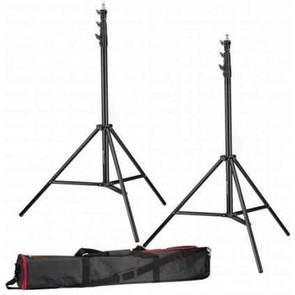 Sada 2 statívov pre osvetlenie 280 cm BRESSER BR-TP280 PRO-1 + taška pre transport