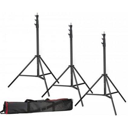Sada 3 statívov pre osvetlenie 280 cm BRESSER BR-TP280 PRO-1 + taška pre transport