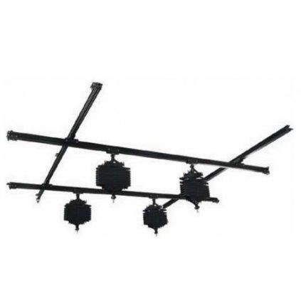 Stropný koľajnicový systém 3x3 m so 4 pantografmi BRESSER CR-1
