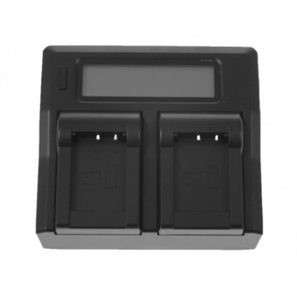 Duálna nabíjačka s LCD displejom pre batérie SONY NP-F550 NP-FM50