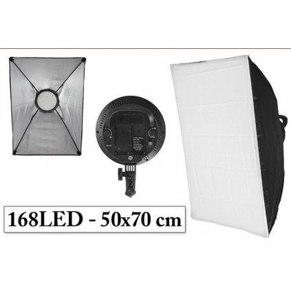 LED softbox 50x70 cm, 168 LED diód
