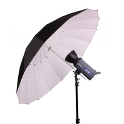 Reflexný dáždnik Jumbo 180 cm čierny / biely BRESSER SM-14