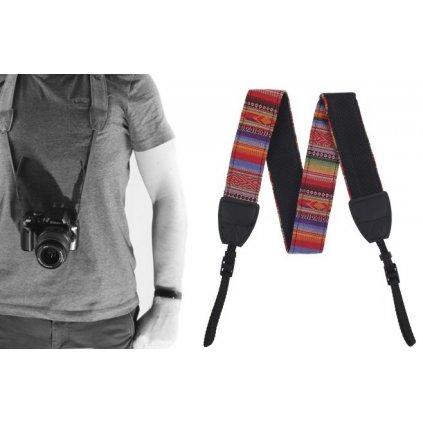 Fotografický popruh pre fotoaparát 80 - 120 cm (farebný)