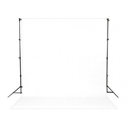 Konštrukcia + papierové fotopozadie 1,36x5,5m biele
