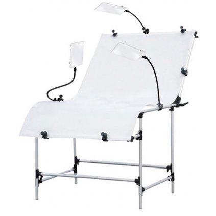 Fotografický stôl 100 x 200 cm + LED osvetlenie BRESSER BR-PT103