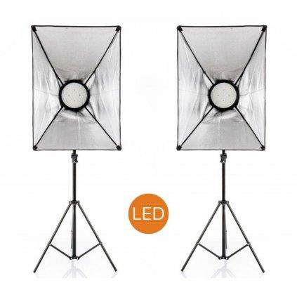 Profesionálna sada LED svetiel, 2x 168 LED