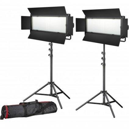 Štúdiový set LED foto  video 2x LG-1200 72W  11 800 LUX BRESSER