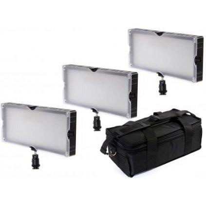Dvojfarebné panelové LED osvetlenie BRESSER SL-448A - sada 3 ks