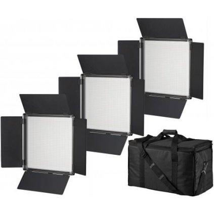 Dvojfarebné panelové LED osvetlenie BRESSER SH-900A - sada 3 ks