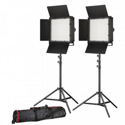 Štúdiový set LED foto / video 2x LS-600 38 W / 5 600 LUX + 2x statív