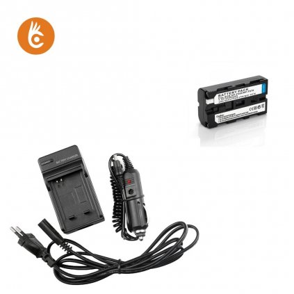 Sada nabíjačka+batéria Sony NP-F550 NP-F750 NP-F970
