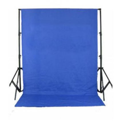 Konštrukcia pozadia + textilné pozadie 3 x 6 m chromakey modrá BRESSER BR-D26