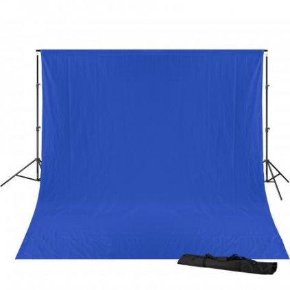 Konštrukcia pozadia 240 x 300 cm + pozadie 3 x 6 m (chromakey modrá) BRESSER BR-D23