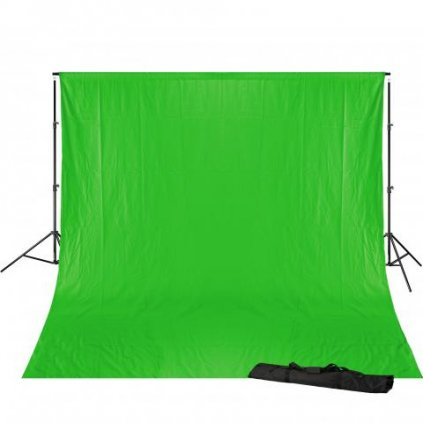 Konštrukcia pozadia 240 x 300 cm + pozadie 3 x 6 m (chromakey zelená) BRESSER BR-D23