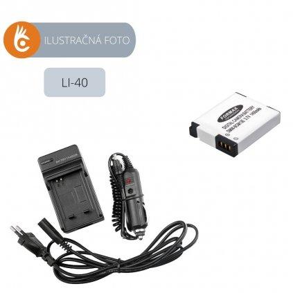 Sada nabíjačka+batéria Olympus LI-40B, LI-42B, LI-40C